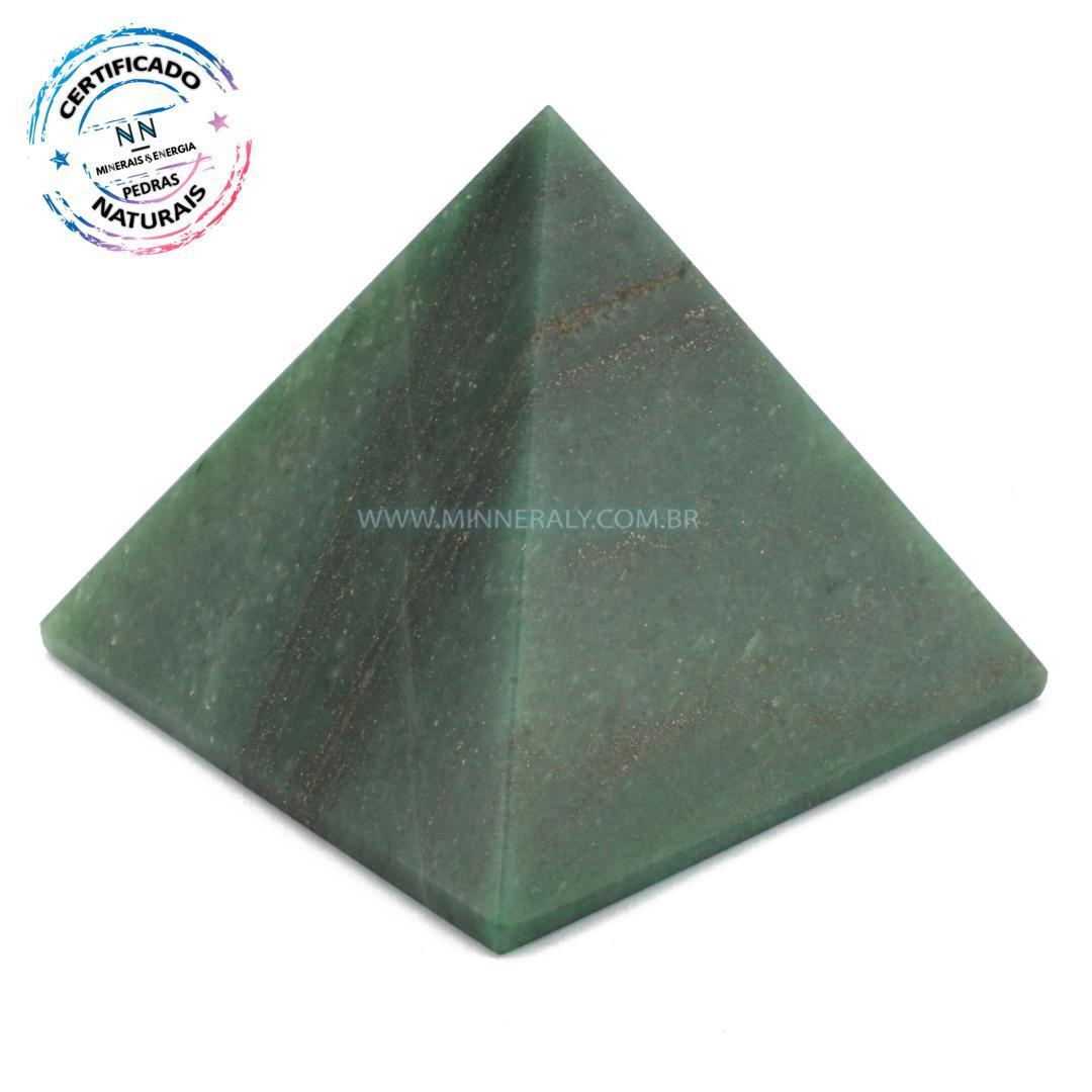 Pirâmide de Aventurina Verde IN Natura (0,455KG; ALT: 6,8CM; COMP; 8,3CM; LARG: 8,2CM)