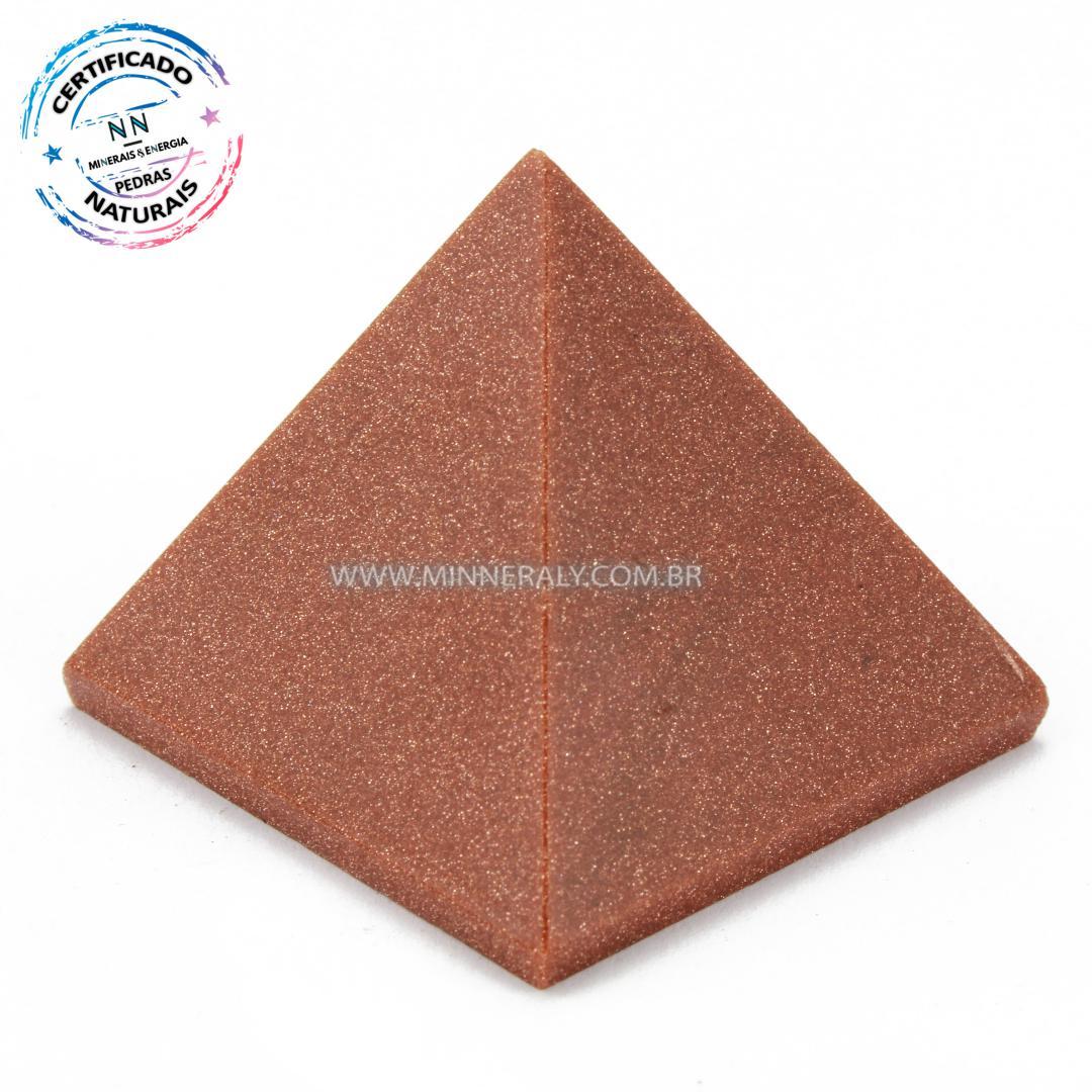 Pirâmide de Goldstone ou Pedra do Sol Reconstituído #NN101