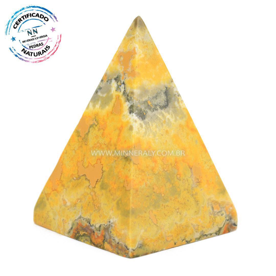 Pirâmide de Pedra do Eclipse (Jaspe Bumblebee ou Mamangaba) in Natura (0,062kg; 5,1cm) #NN127