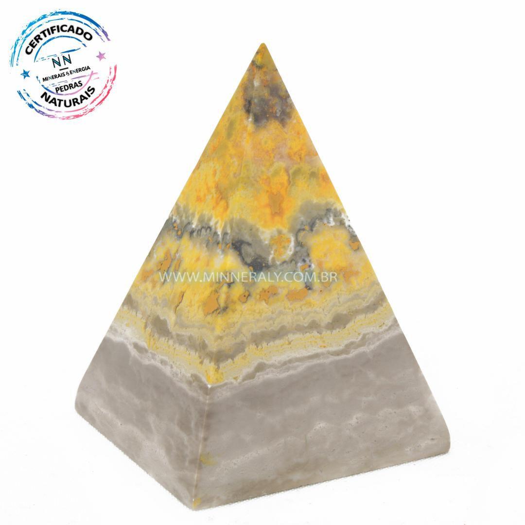 Pirâmide de Pedra do Eclipse (Jaspe Bumblebee ou Mamangaba) in Natura (0,206kg; 7,6cm) #NN132
