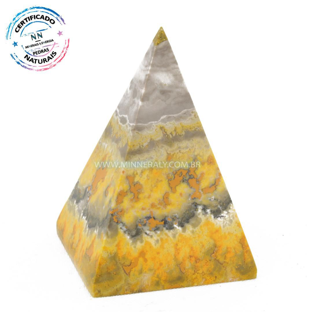 Pirâmide de Pedra do Eclipse (Jaspe Bumblebee ou Mamangaba) in Natura (0,168kg; 7,1cm) #NN134