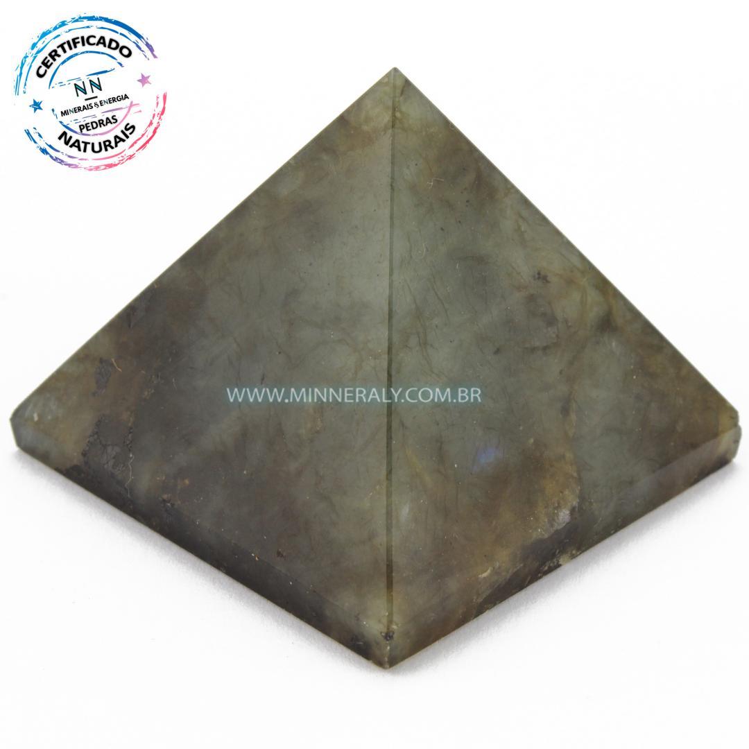 Pirâmide de Labradorita (Espectrolita) in Natura (0,080kg; 4,7cm) #NN138