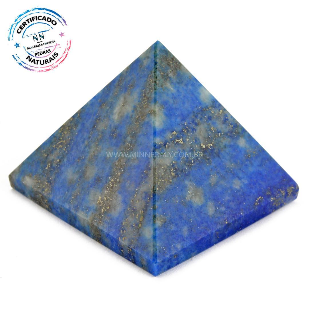 Pirâmide de LÁPIS-LAZULI IN Natura (0,090KG; ALT: 3,6CM; COMP; 4,4CM; LARG: 4,5CM)