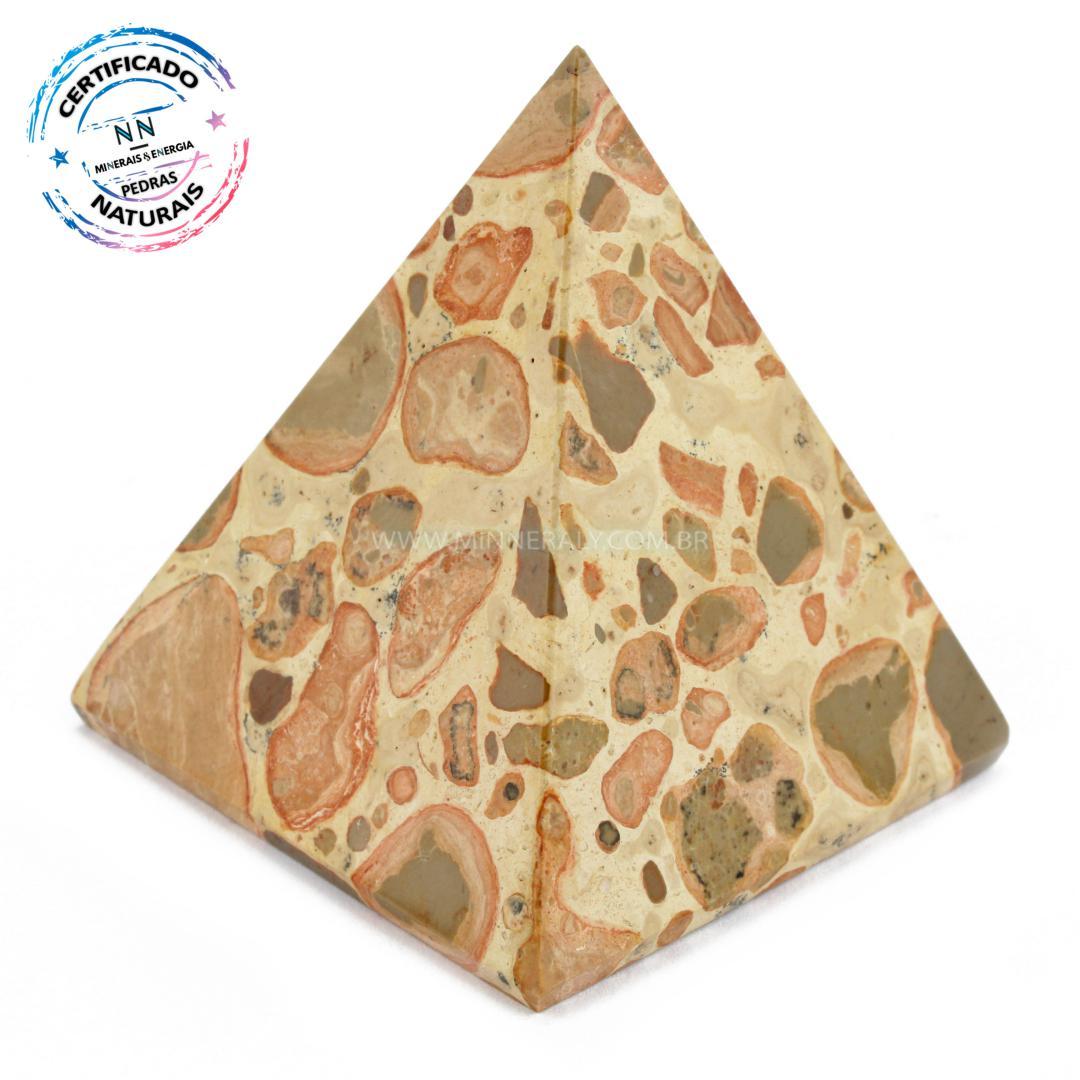 Pirâmide de Leopardita IN Natura (0,165KG; ALT: 6,1CM; COMP; 5,5CM; LARG: 5,3CM)