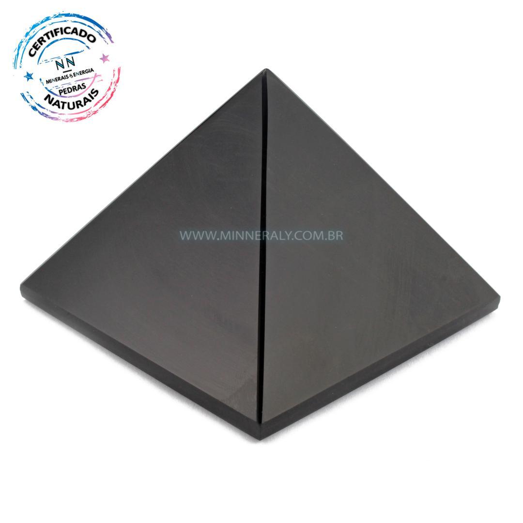 Pirâmide de Obsidiana Negra (preta) IN Natura (0,124KG; ALT: 4,5CM; COMP; 5,3CM; LARG: 5,1CM)
