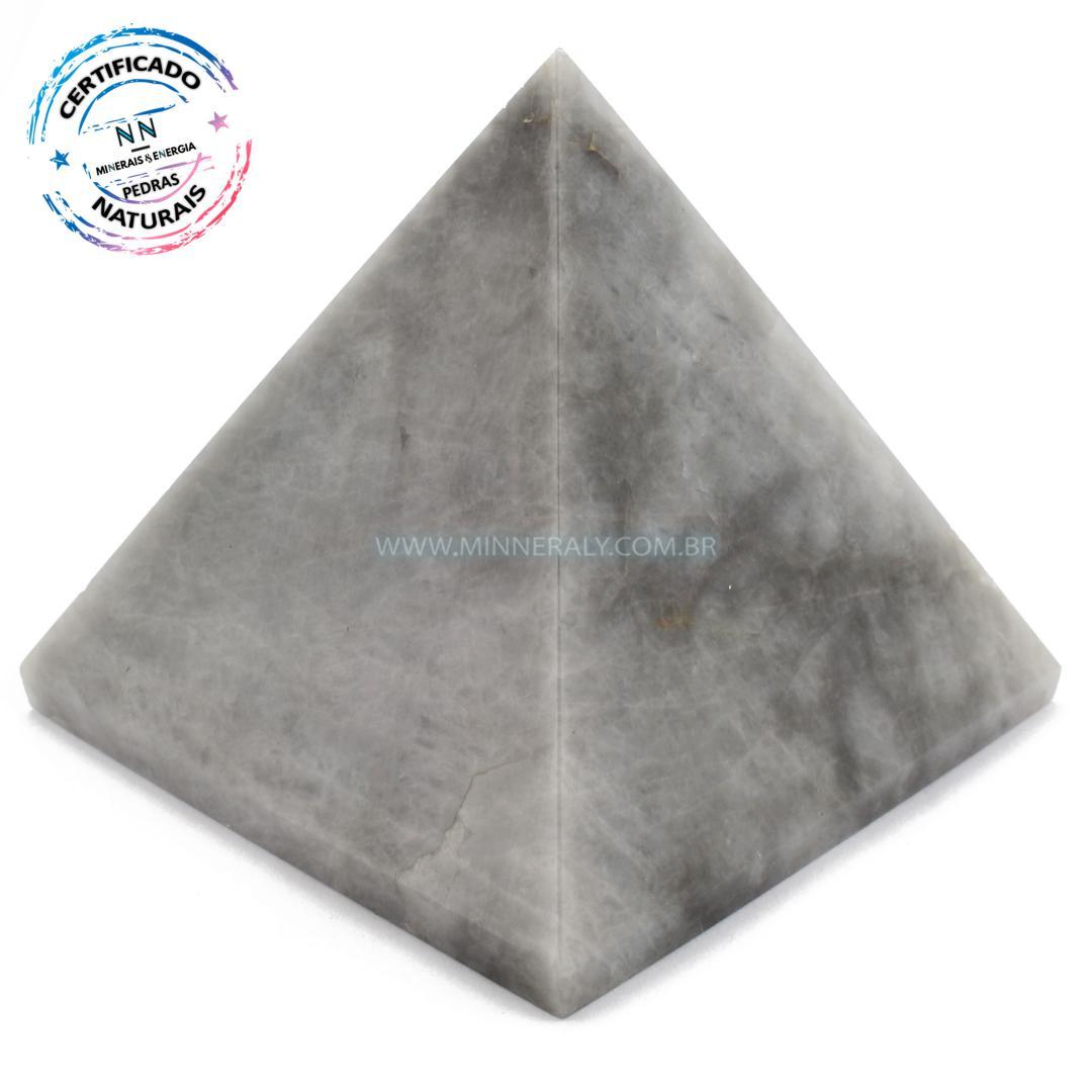 Pirâmide de OLHO de Gato IN Natura (0,565KG; ALT: 7,9CM; COMP; 8,6CM; LARG: 8,2CM)