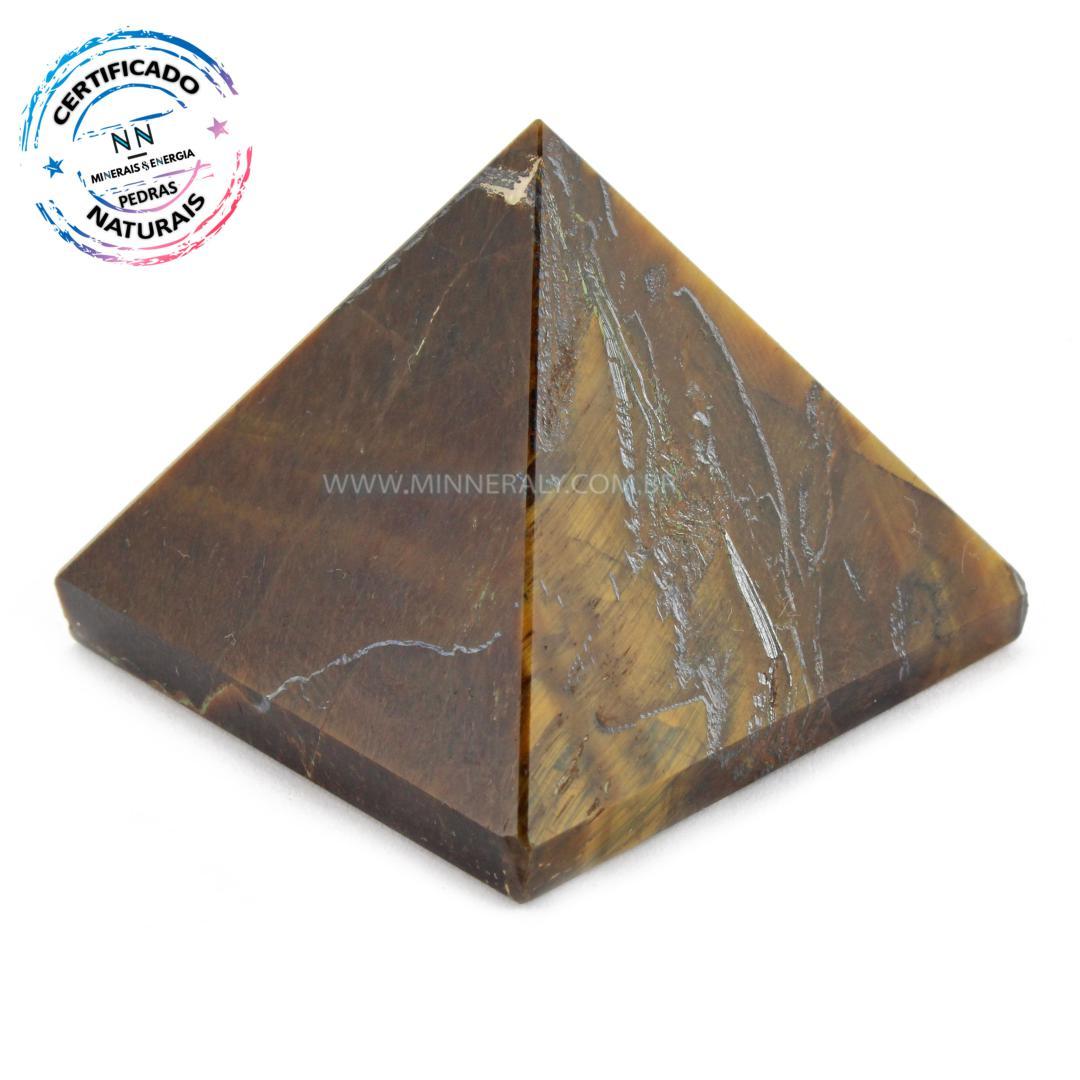 Pirâmide de OLHO de Tigre IN Natura (0,068KG; ALT: 3,4CM; COMP; 4,1CM; LARG: 4,1CM)