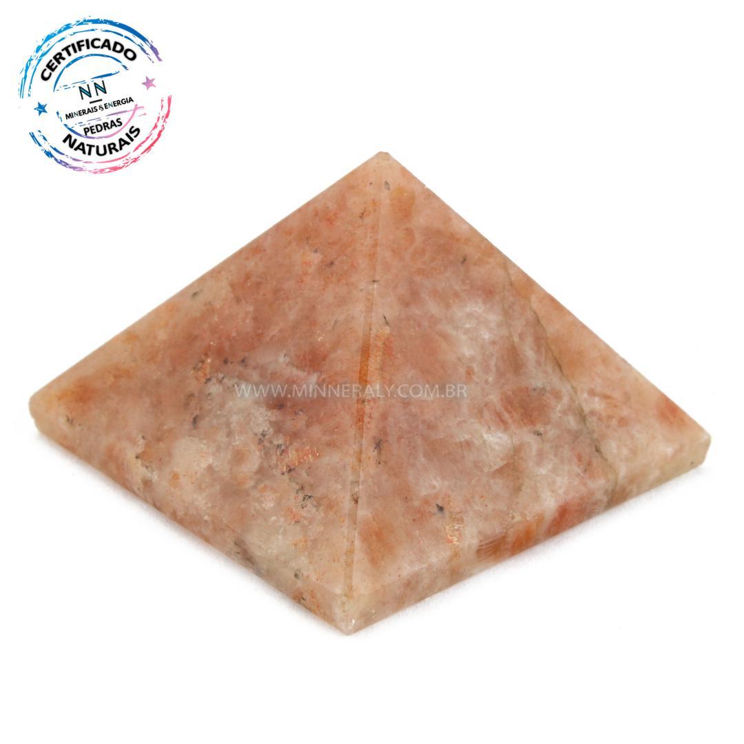 Pirâmide de Pedra do SOL IN Natura (0,062KG; ALT: 2,9CM; COMP; 4,3CM; LARG: 4,4CM)