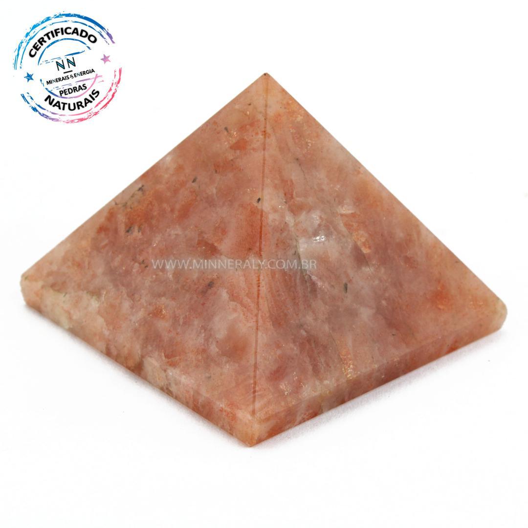 Pirâmide de Pedra do SOL IN Natura (0,068KG; ALT: 3,4CM; COMP; 4,3CM; LARG: 4,4CM)