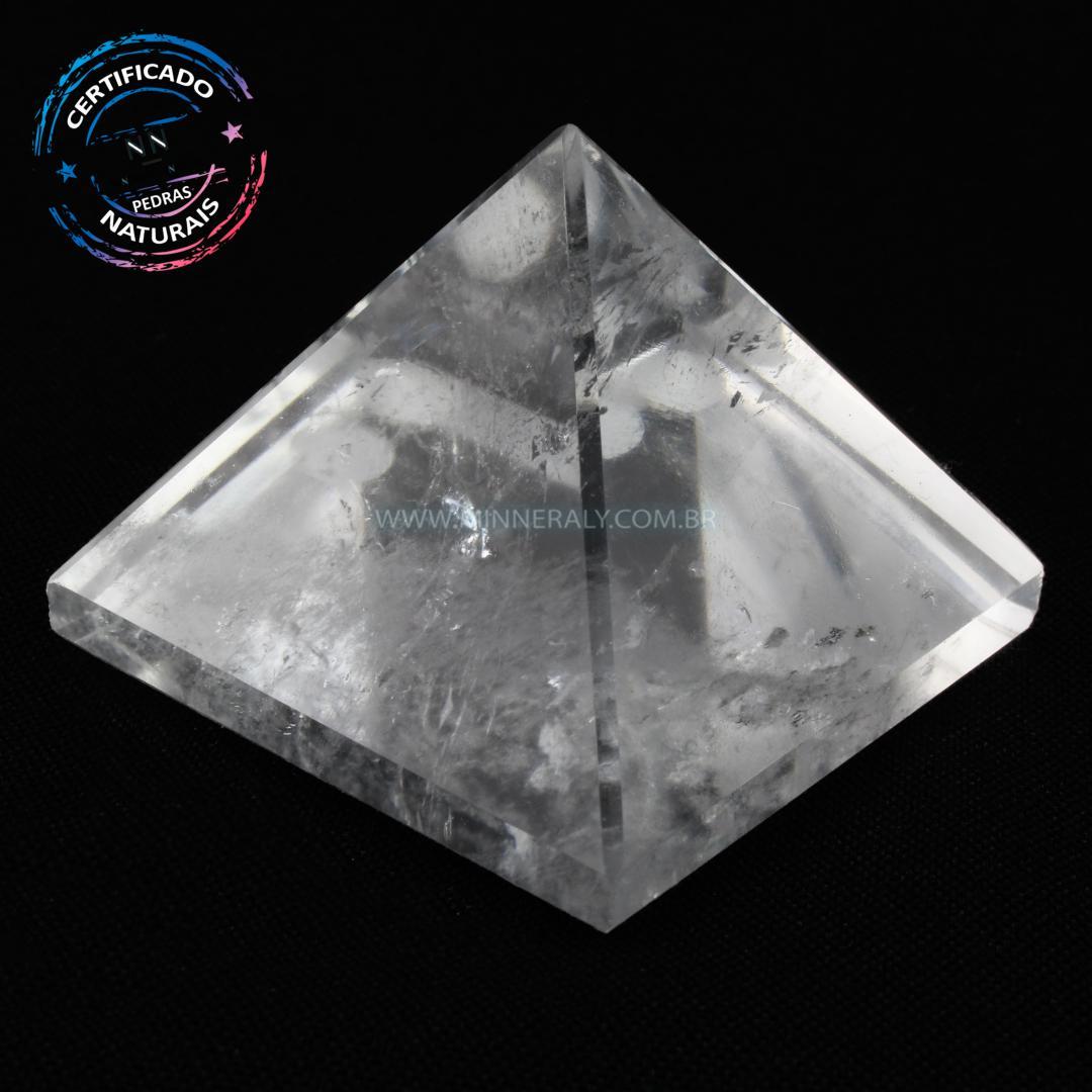 Pirâmide de Quartzo ou Cristal Branco IN Natura (0,138KG; ALT: 4,2CM; COMP; 5,3CM; LARG: 5,4CM)