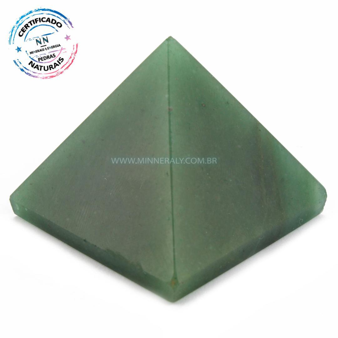 Pirâmide de Quartzo Verde IN Natura (0,092KG; ALT: 3,9CM; COMP; 4,6CM; LARG: 4,5CM)