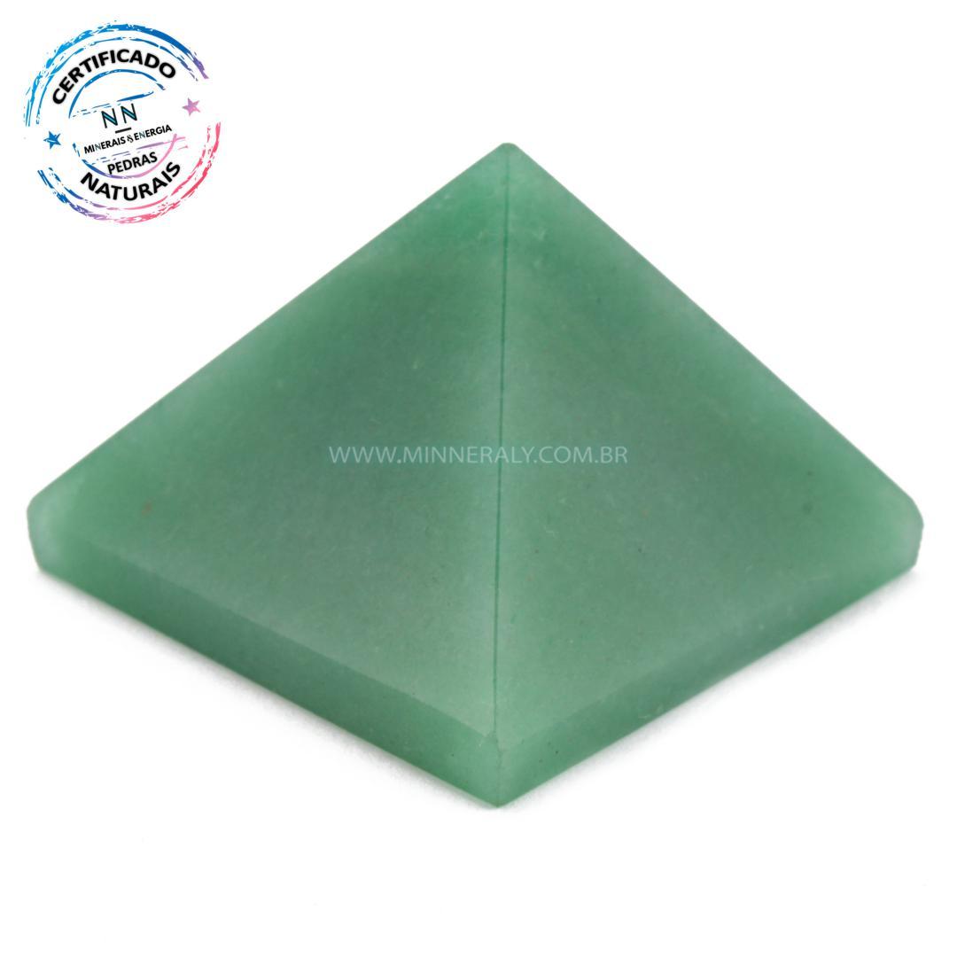 Pirâmide de Quartzo Verde IN Natura (0,110KG; ALT: 3,6CM; COMP; 5,1CM; LARG: 5,0CM)