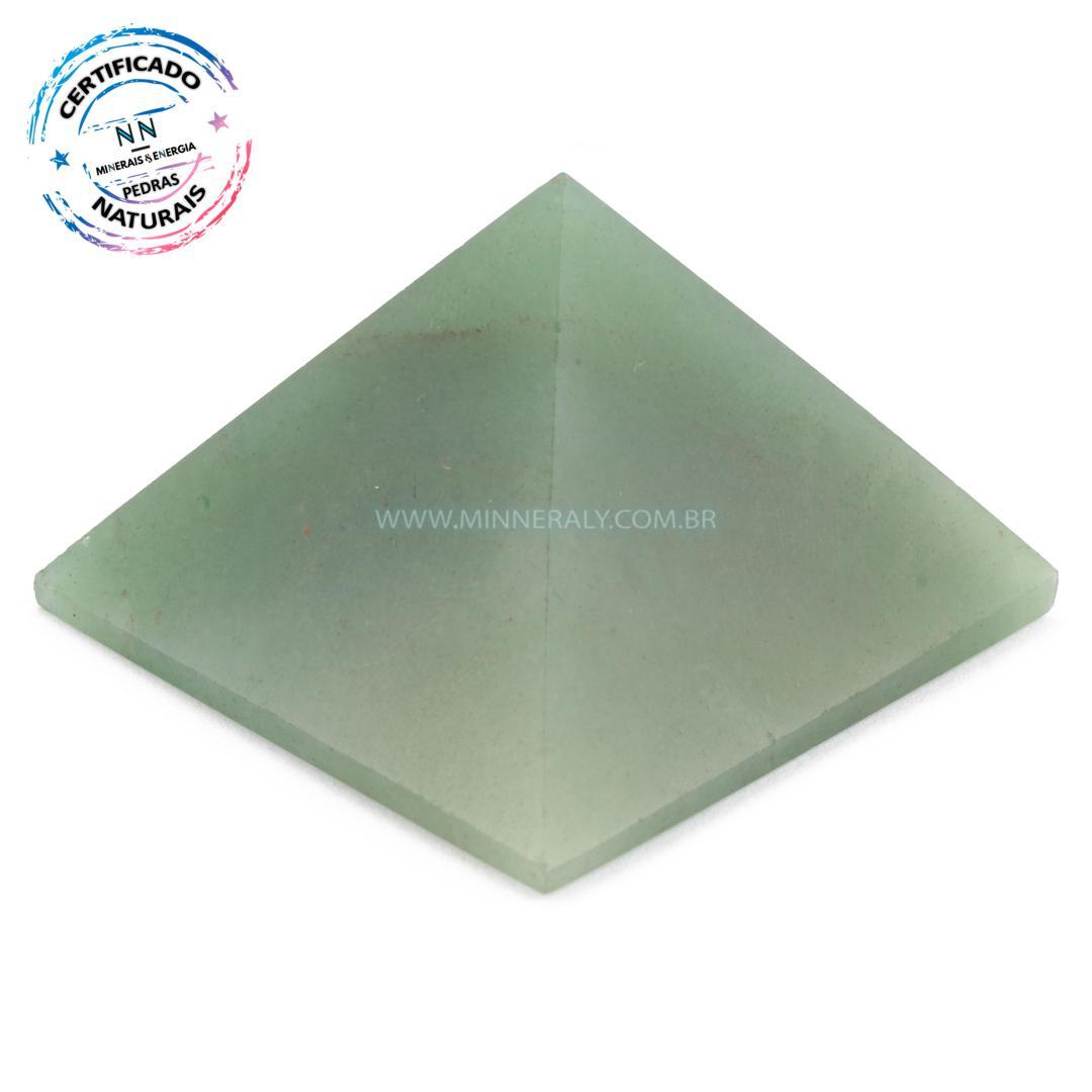 Pirâmide de Quartzo Verde IN Natura (0,124KG; ALT: 3,8CM; COMP; 5,6CM; LARG: 5,7CM)