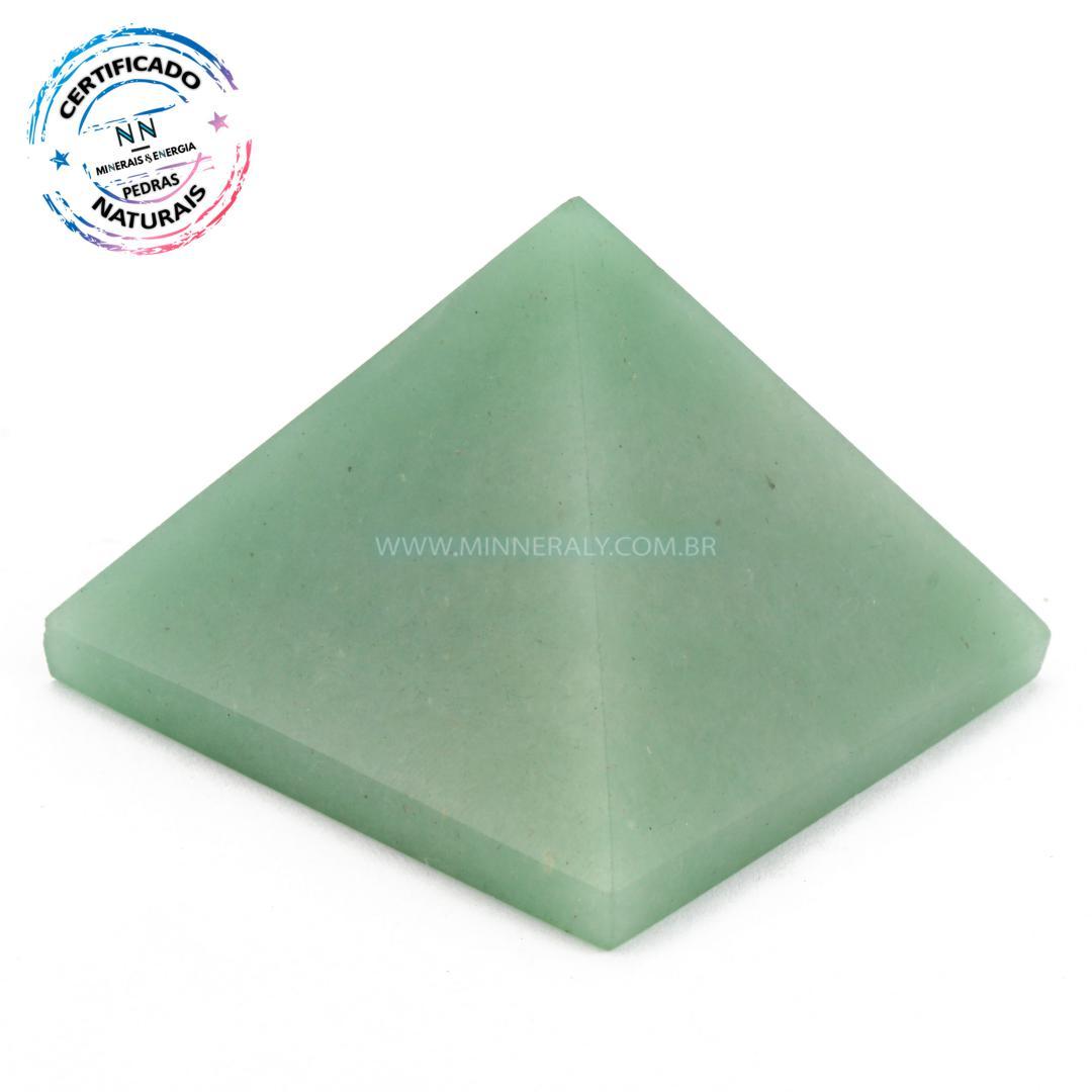 Pirâmide de Quartzo Verde IN Natura (0,138KG; ALT: 4,0CM; COMP; 5,6CM; LARG: 5,5CM)