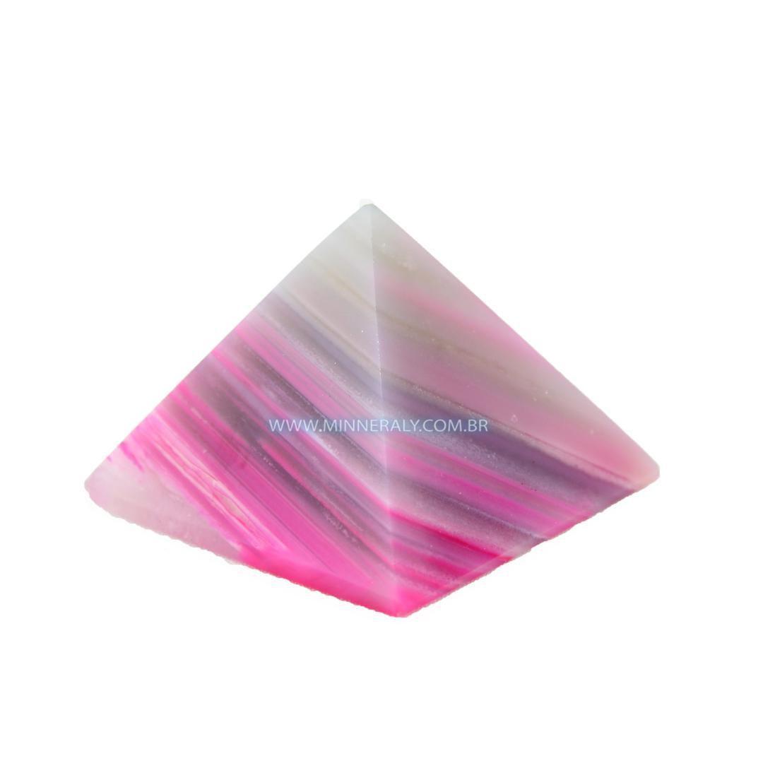 Pirâmide de Ágata Rosa Reconstituída  #NN112