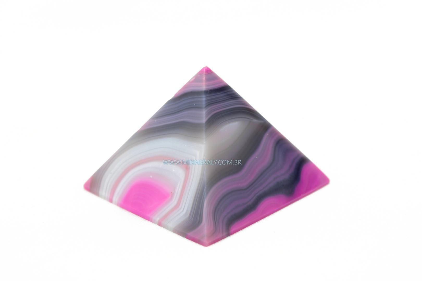 Pirâmide de Ágata Rosa Reconstituída #NN109