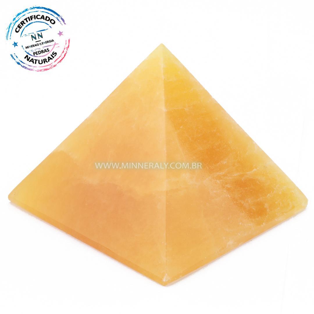 Pirâmide de Calcita Amarela in Natura (0,396kg; 6,4cm) #NN120