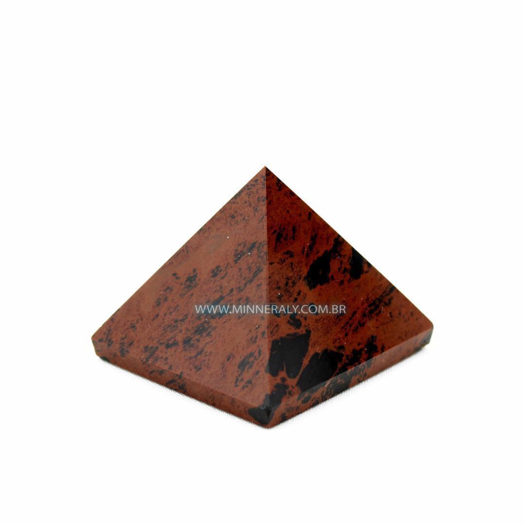 Pirâmide de Obsidiana Cor de Magno (Marrom ou Mahagony) in Natura (0,130kg; 5,0cm) #NN148