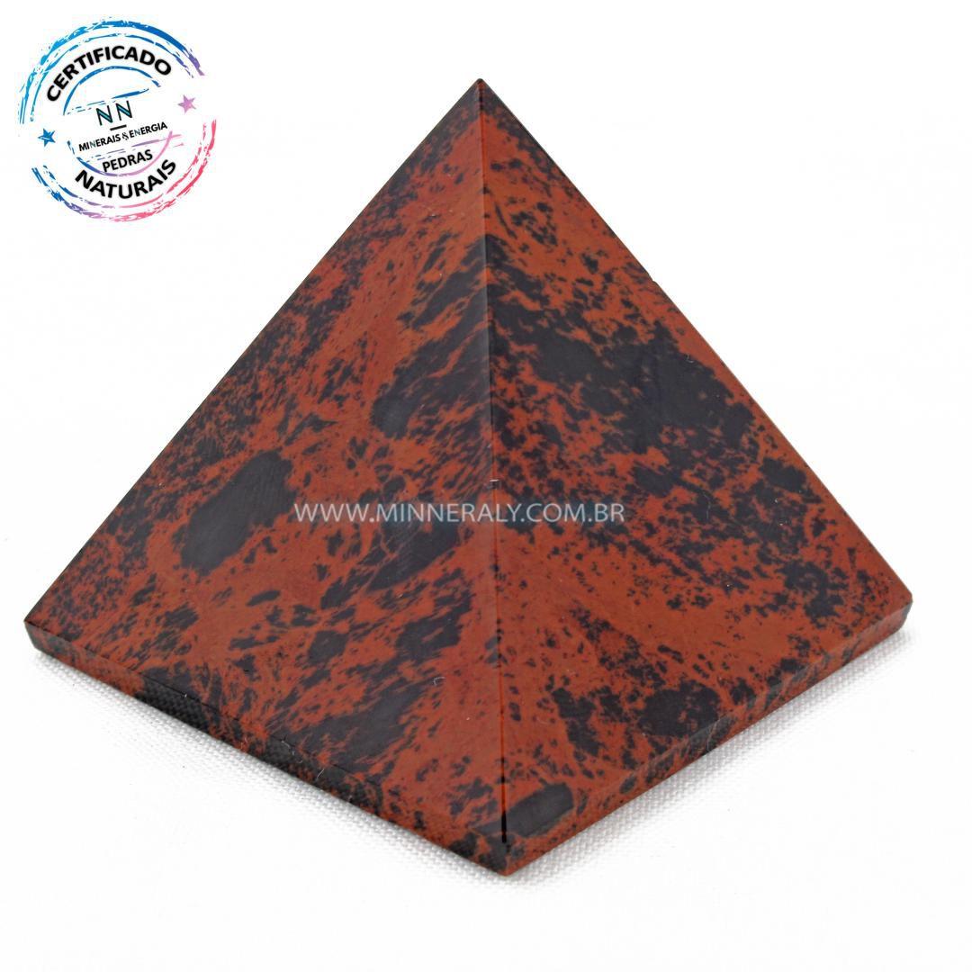 Pirâmide de Obsidiana Cor de Magno (Marrom ou Mahagony) in Natura (0,164kg; 5,8cm) #NN149