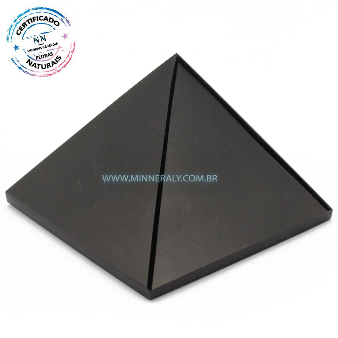 Pirâmide de Obsidiana Negra (Preta) in Natura (0,214kg; 5,1cm) #NN155