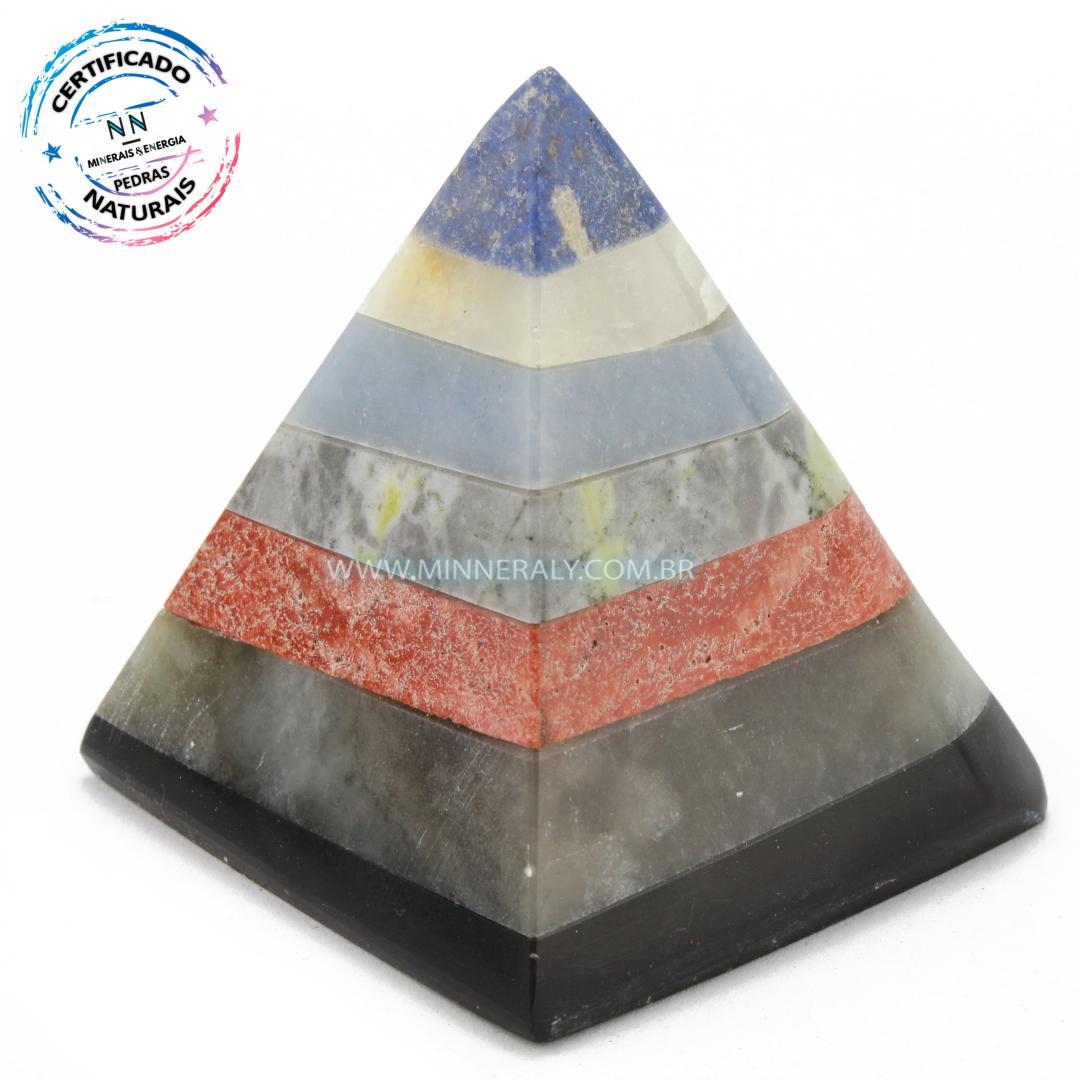 Pirâmide de Pedras Mista in Natura (0,138kg; 5,5cm) #NN160