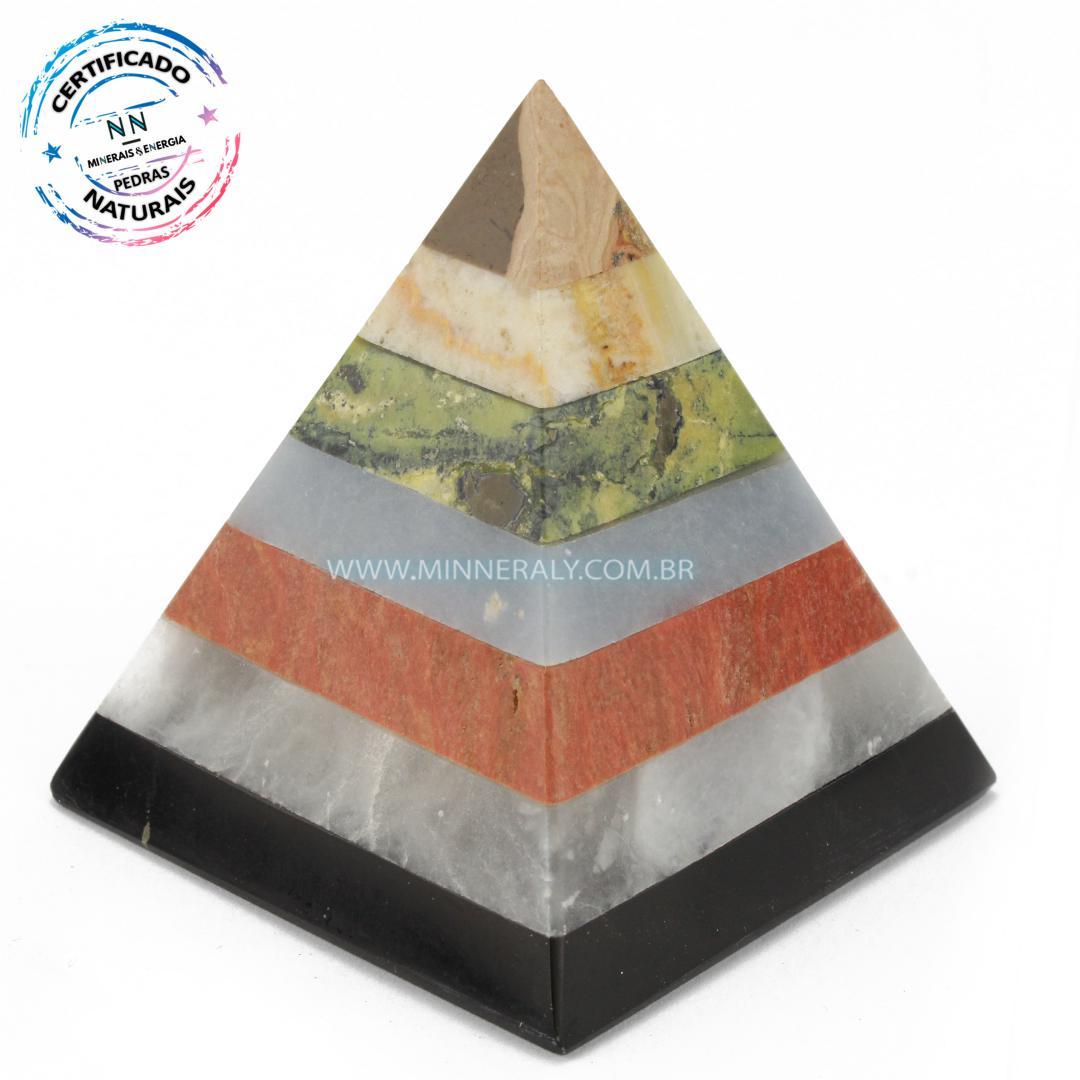 Pirâmide de Pedras Mistas in Natura (0,194kg; 6,5cm) #NN162