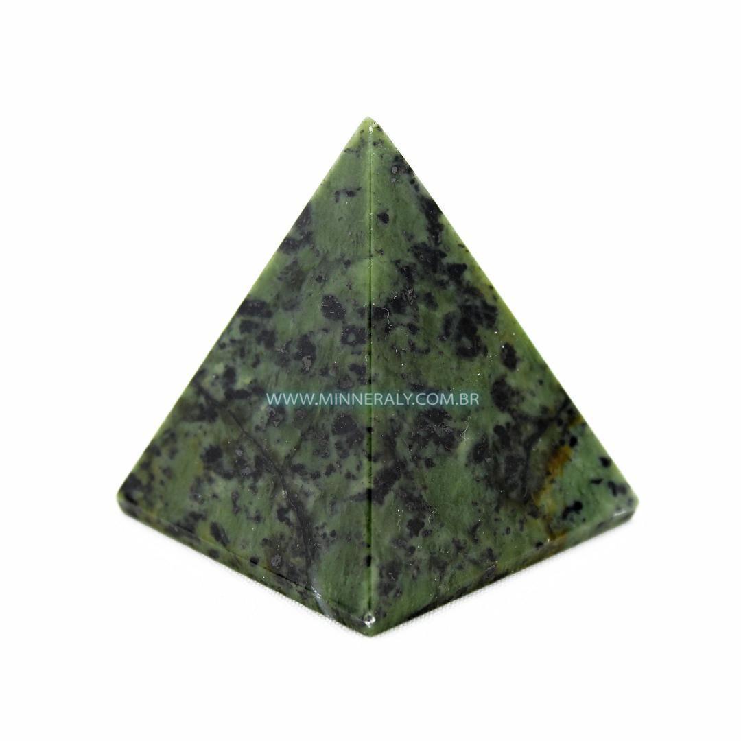 Pirâmide de Serpentina in Natura (0,160kg; 6,0cm) #NN173