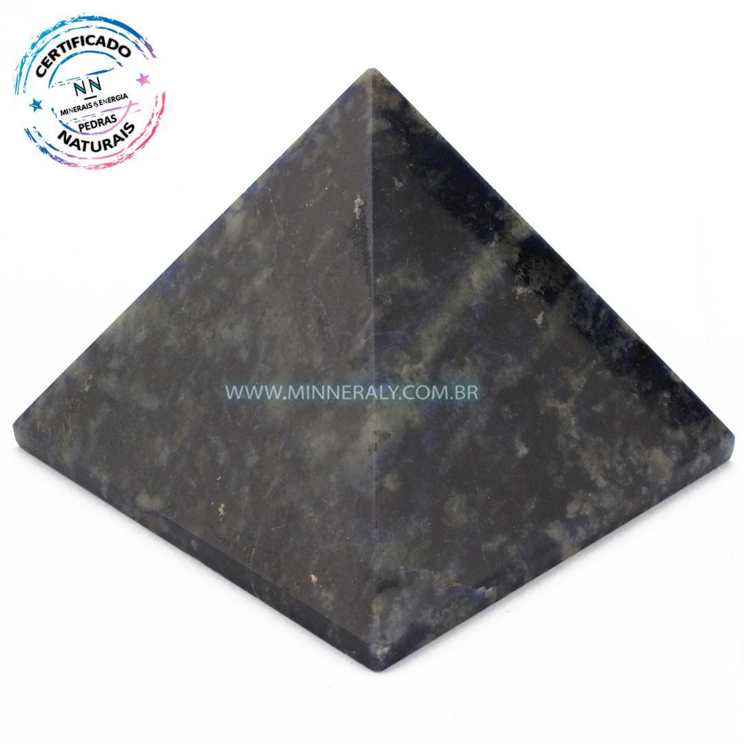 Pirâmide de Sodalita in Natura (0,370kg; 6,5cm) #NN176