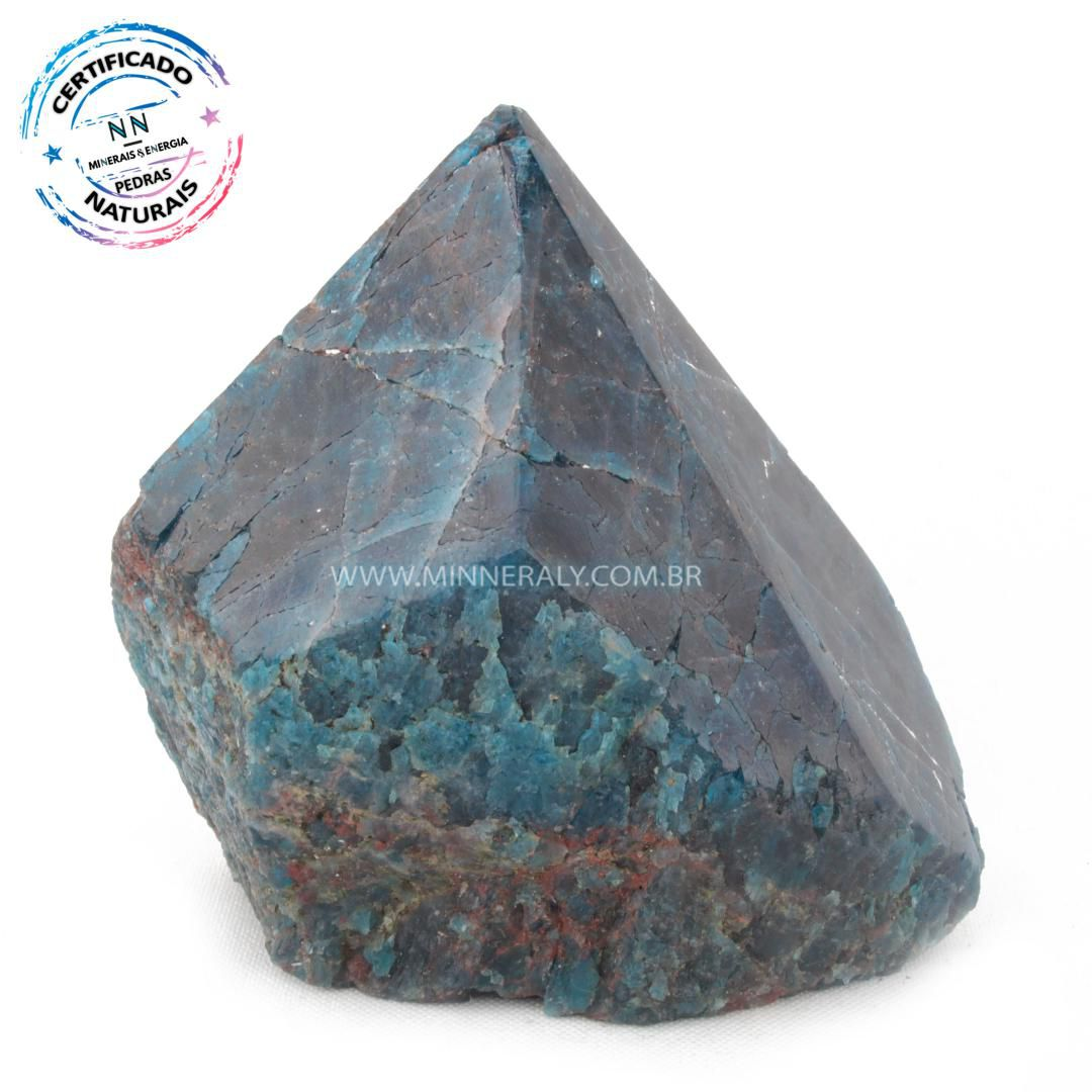 Ponta Geradora de Apatita Azul in Natura (0,584kg; 8,4cm) #NN125