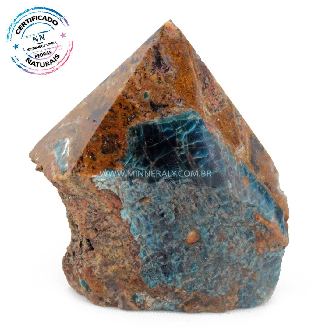 Ponta Geradora de Apatita Azul in Natura (0,628kg; 9,8cm) #NN123