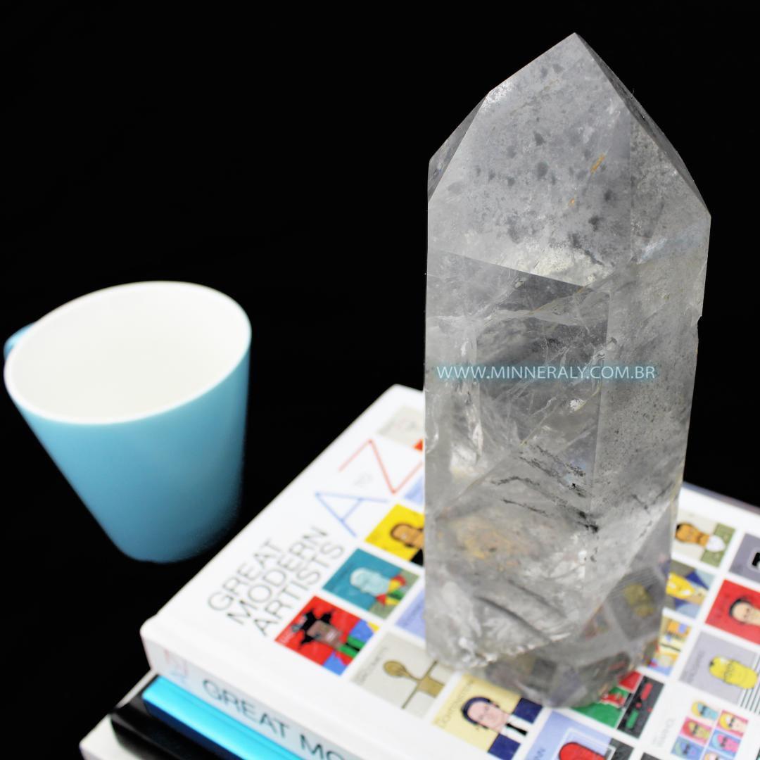 Ponta de Quartzo ou Cristal com Clorita (1,530kg; 20cm) #NN131