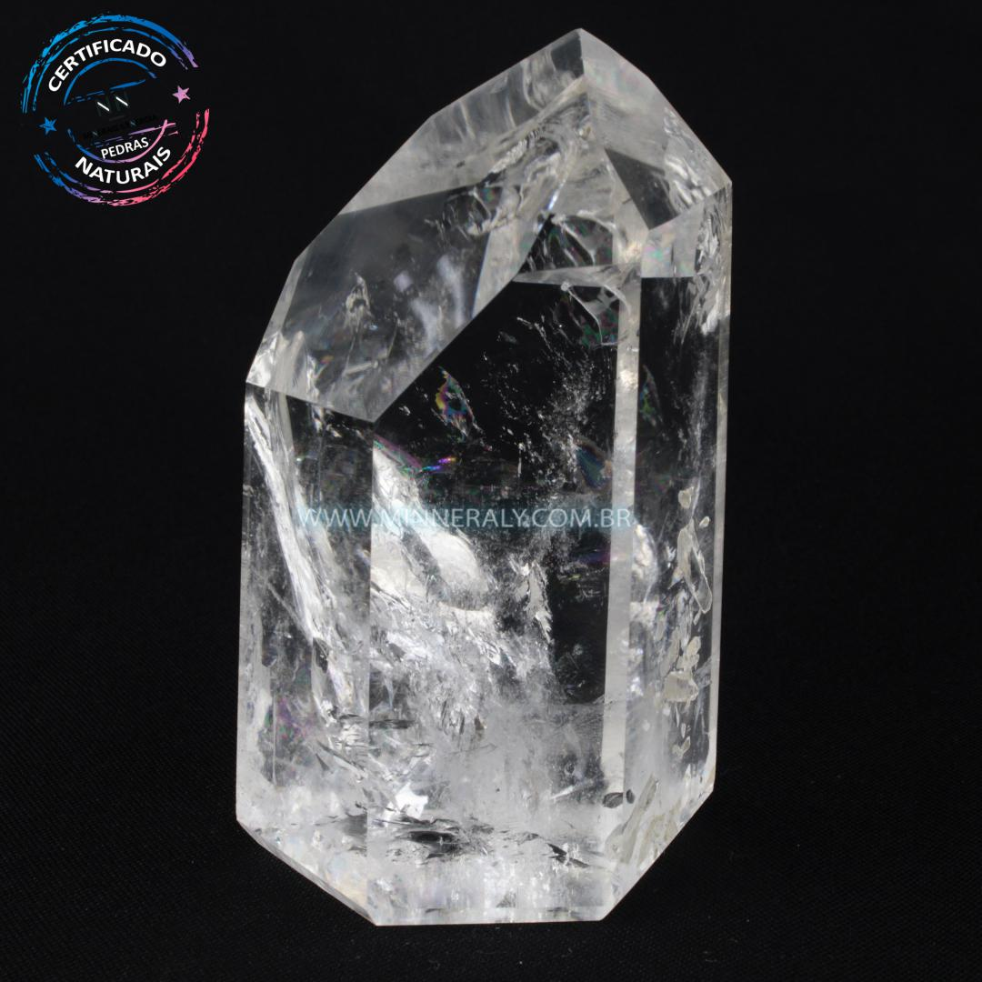 Ponta de Quartzo ou Cristal Craquelado in Natura em Bruto (0,508kg; 10,8cm) #NN102