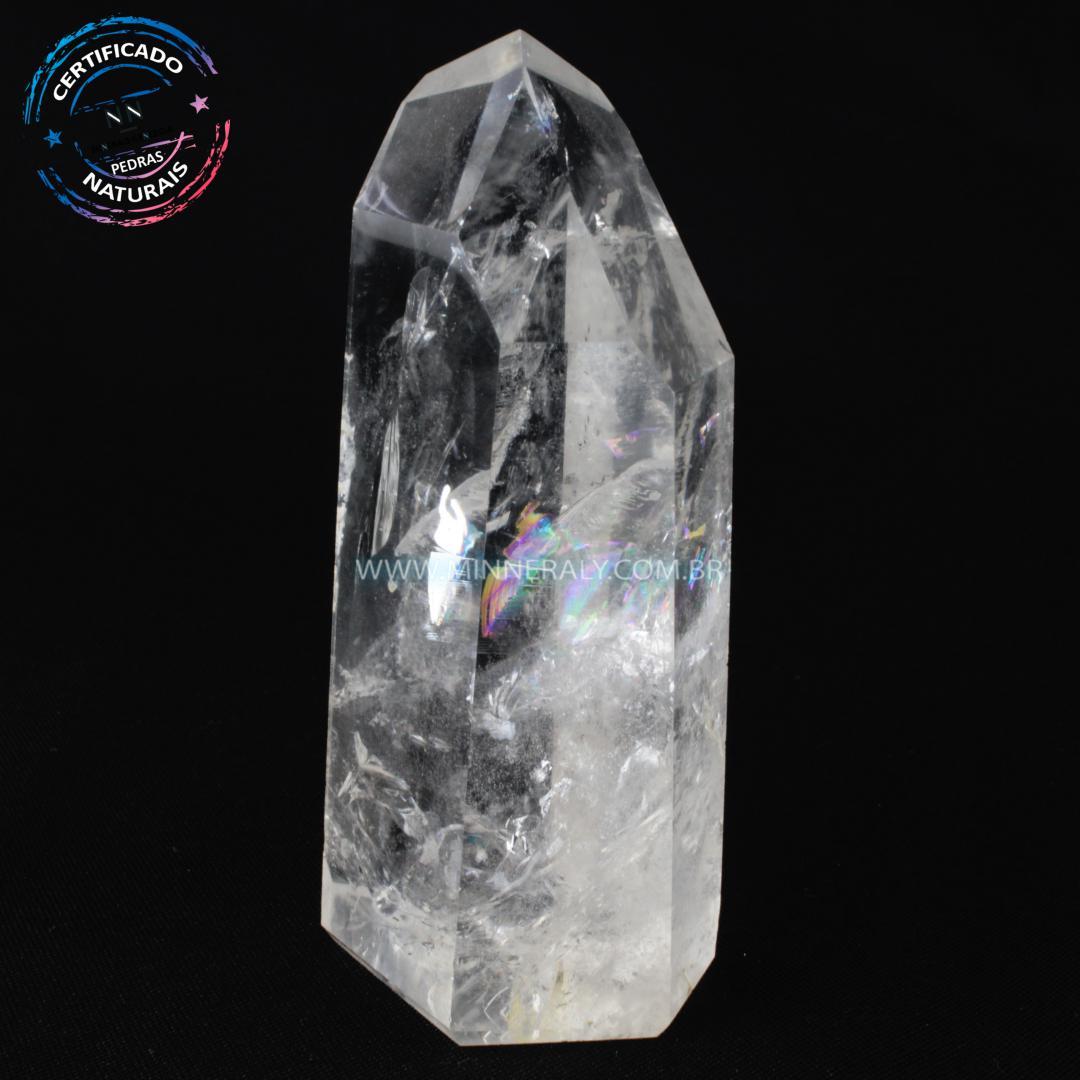 Ponta de Quartzo ou Cristal Craquelado in Natura (0,341kg; 12,2cm) #NN133