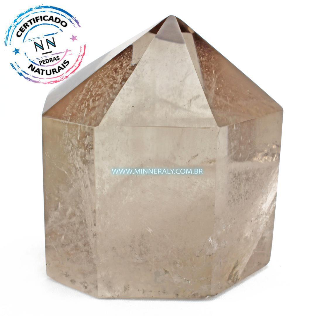Ponta de Quartzo ou Cristal Fumê (Enfumaçado) in Natura (3,595kg; 14,8cm) #NN137