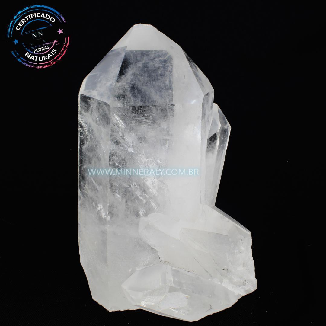 Drusa de Quartzo ou Cristal Branca in Natura em Bruto (0,748kg; 13,0m) #NN113