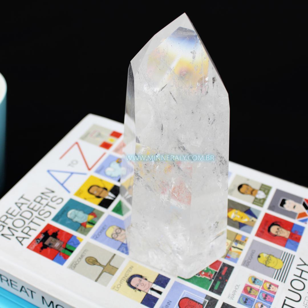 Ponta de Quartzo ou Cristal Craquelado in Natura (0,925kg; 14,8cm) #NN135