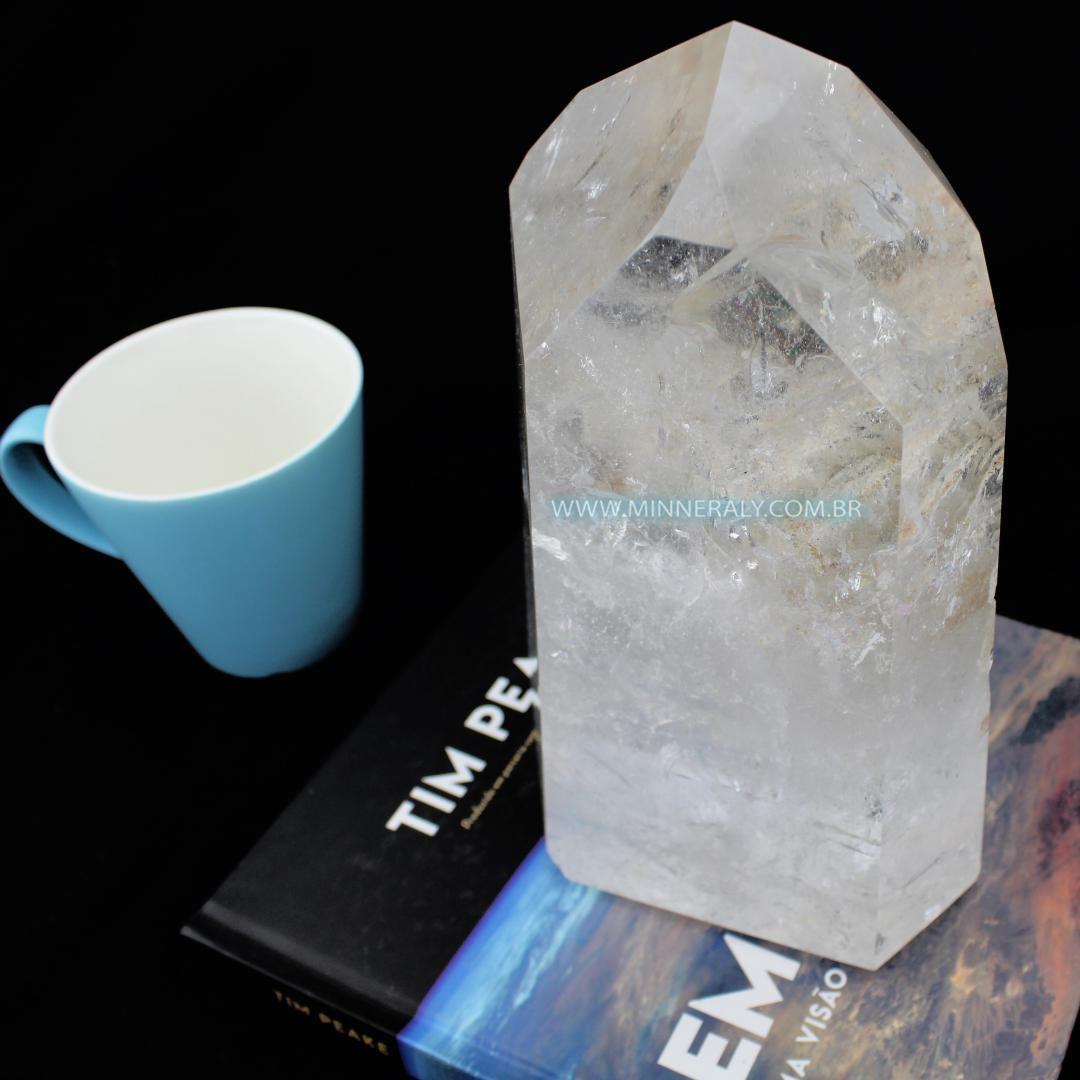Ponta de Quartzo ou Cristal Branco in Natura (4,975kg; 24cm) #NN128