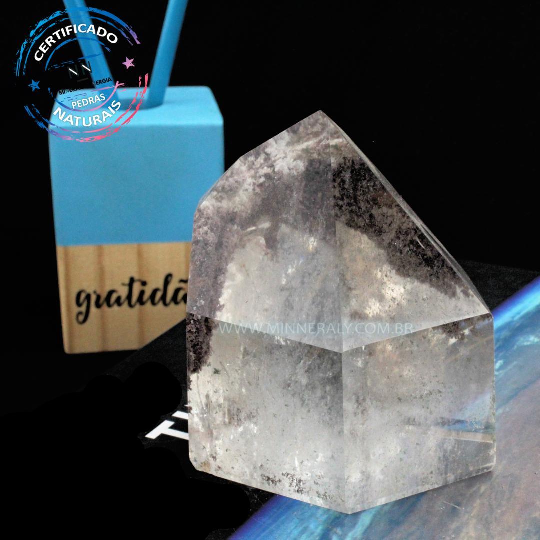Ponta de Cristal Phantom IN Natura (0,480KG; ALT: 8,3CM; COMP: 7,5CM; LARG: 5,7CM)