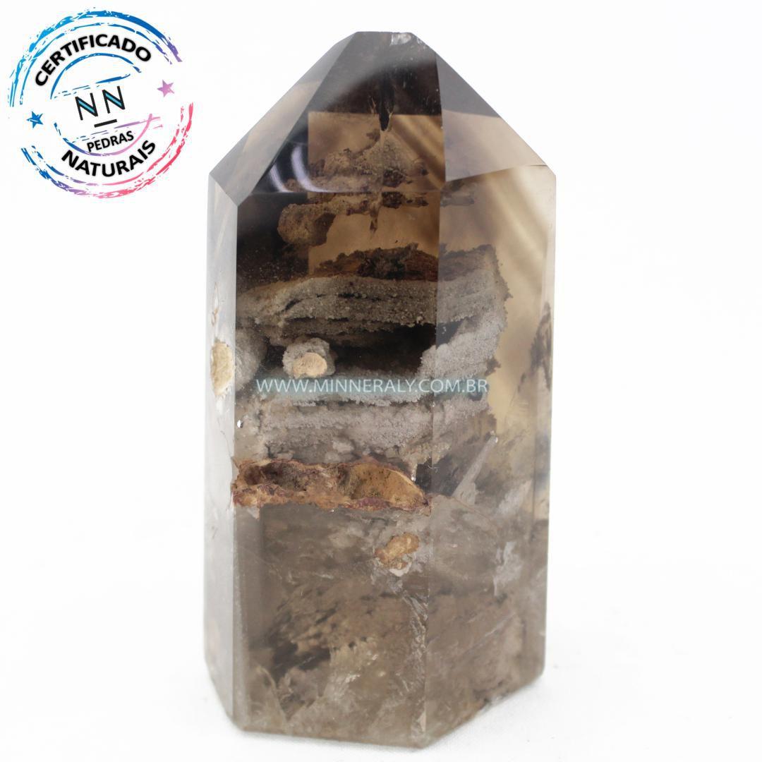 Ponta de Quartzo ou Cristal Phantom (0,720kg; 15,5cm) #NN139