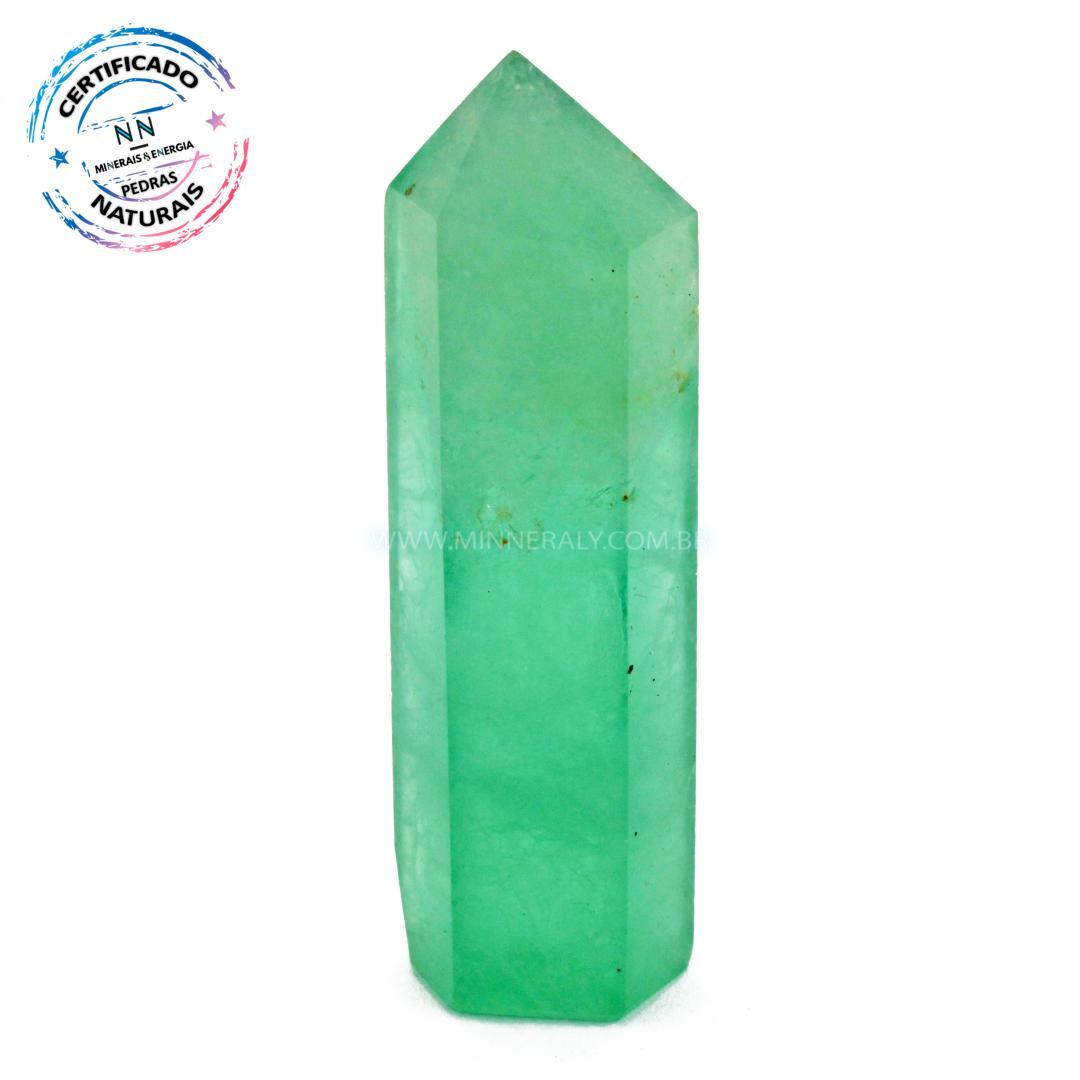 Ponta de Fluorita Verde IN Natura (0,65KG; ALT: 7,5CM; COMP: 2,3CM; LARG: 1,8CM)
