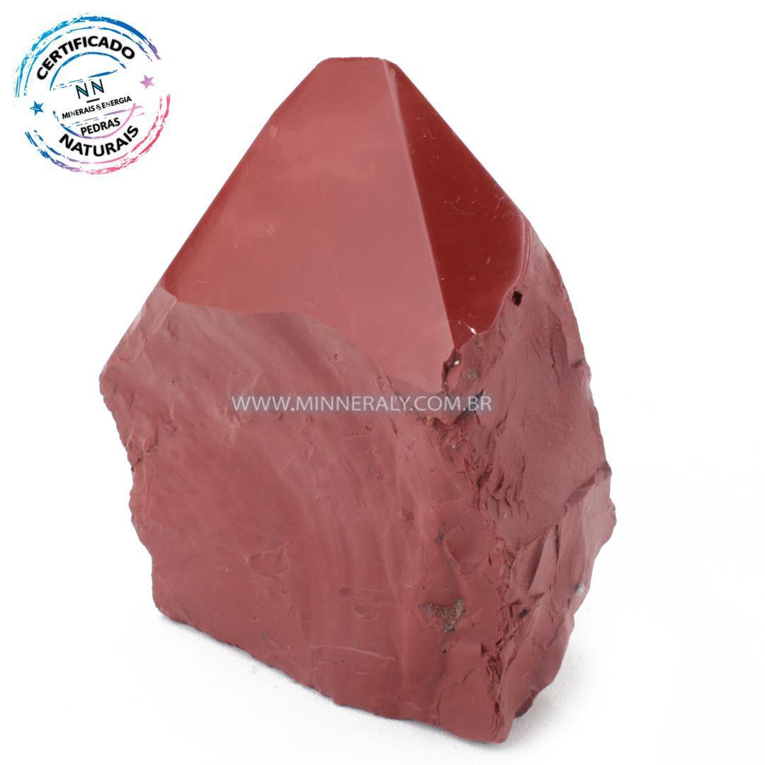 Ponta Geradora de Jaspe Vermelho in Natura (1,134kg; 12,3cm) #NN175