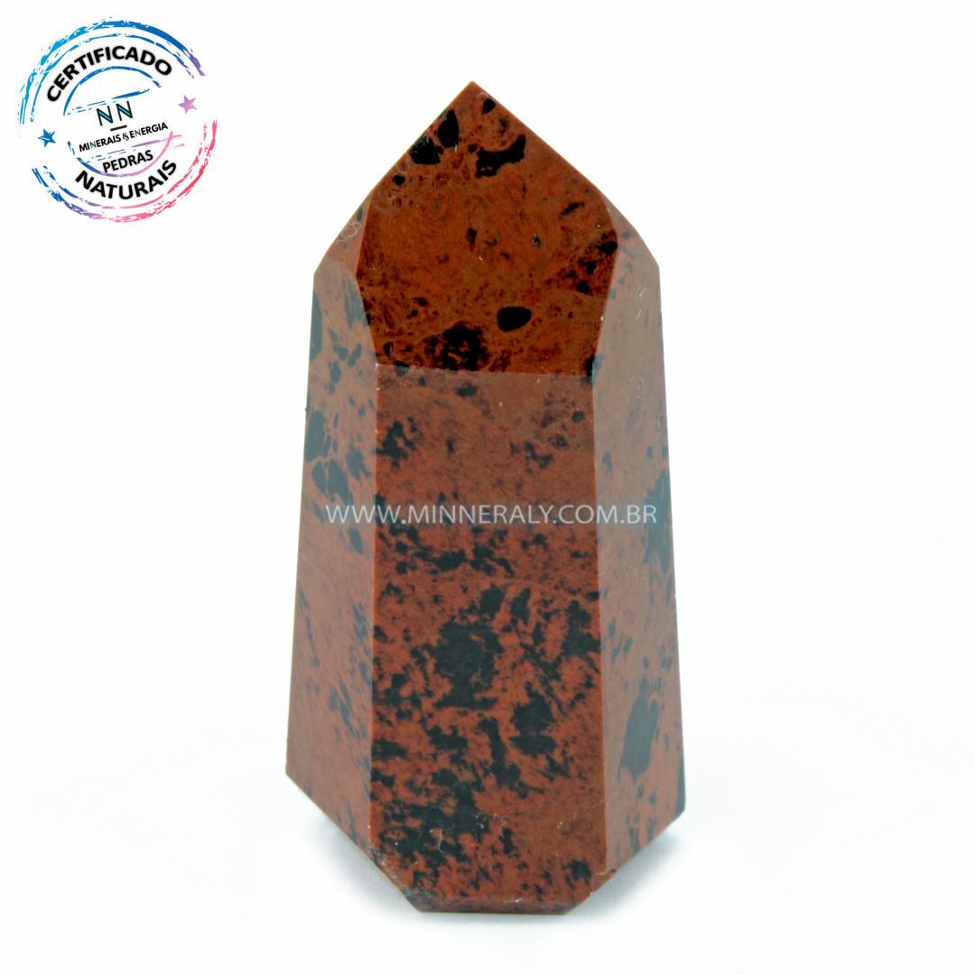 Ponta de Obsidiana Cor De Magno (Marrom ou Mahagony)  in Natura  (0,040kg; 5,9cm) #NN157