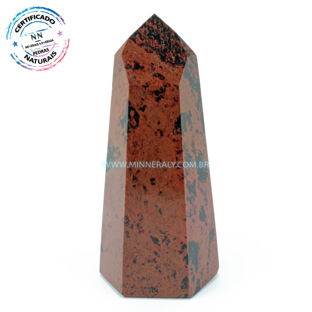 Ponta de Obsidiana Cor De Magno (Marrom ou Mahagony)  in Natura  (0,092kg; 8,0cm)#NN144