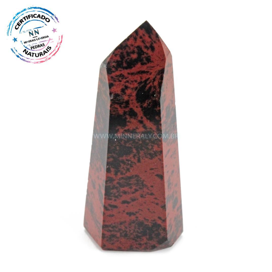 Ponta de Obsidiana COR de Mogno (marrom ou Mahagony) IN Natura (0,40KG; ALT: 5,9CM; COMP: 2,9CM; LARG: 2,9CM)