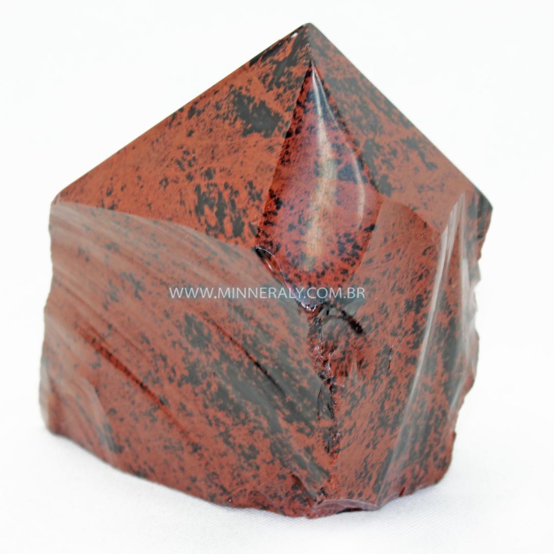 Ponta Geradora de Obsidiana COR de Magno (marrom ou Mahagony)  IN Natura (0,375KG: 8,2CM) #NN171