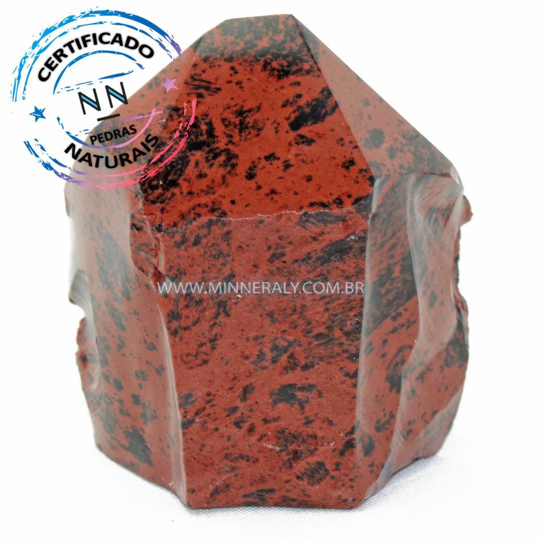 Ponta Geradora de Obsidiana Cor De Magno (Marrom ou Mahagony) in Natura (0,380kg; 8,2cm) #NN172