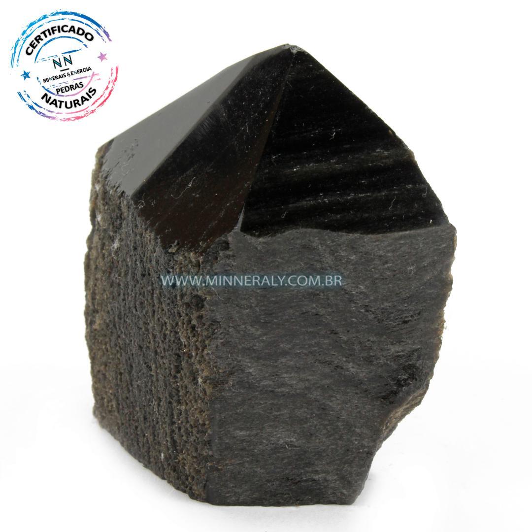 Ponta Geradora de Obsidiana Negra (Preta) in Natura (0,302kg; 8,7cm) #NN173