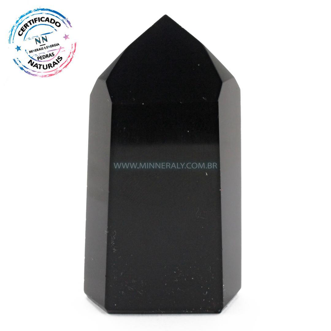 Ponta de Obsidiana Negra(preta) IN Natura (0,175KG; ALT: 8,6CM; COMP: 4,5CM; LARG: 2,7CM)