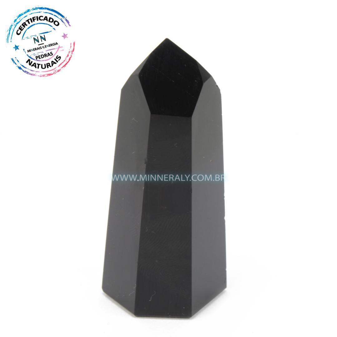 Ponta de Obsidiana Negra (Preta) in Natura (0,74kg; 6,8cm) #NN119