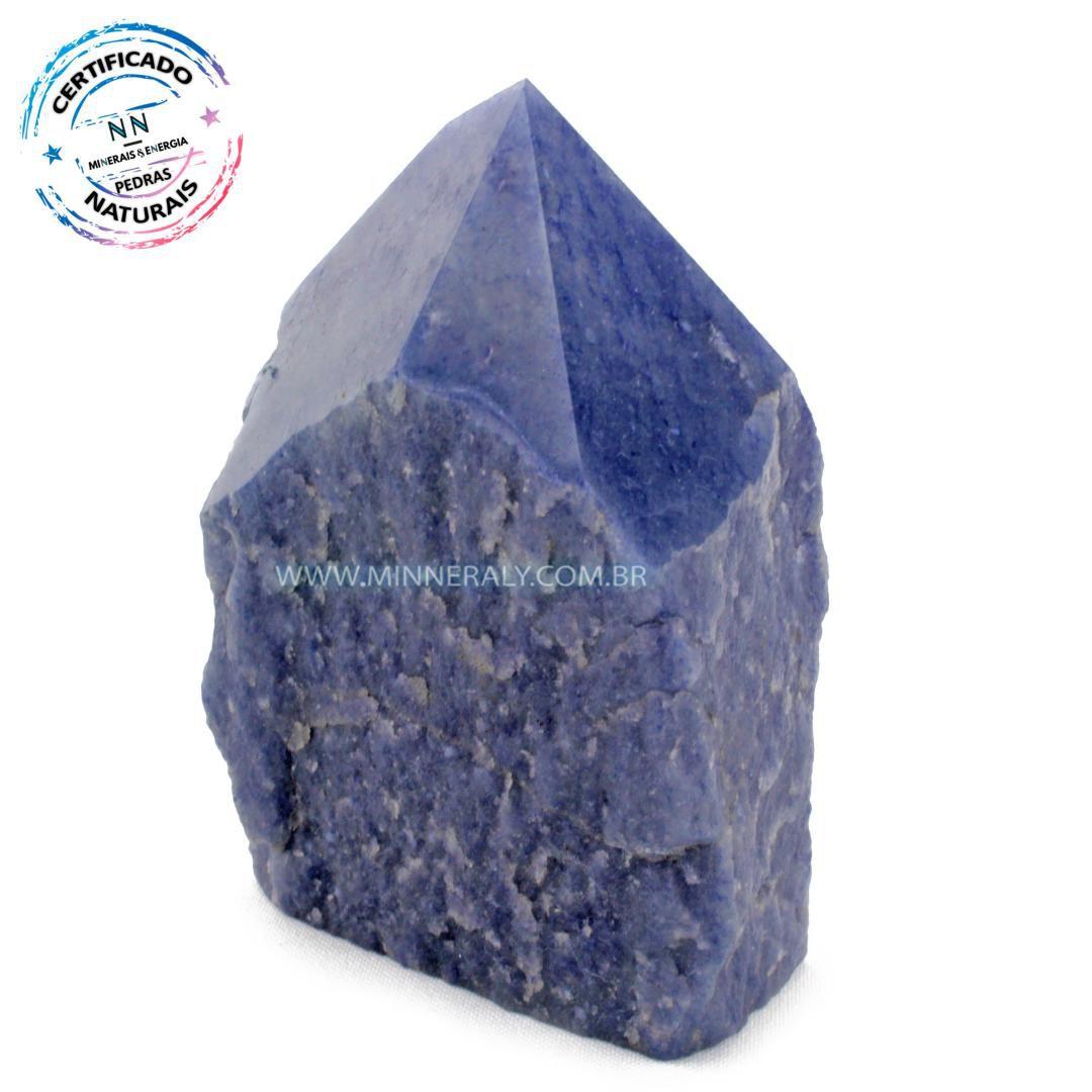 Ponta Geradora de Quartzo Azul in Natura (0,640kg; 10,9cm) #NN201